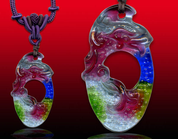 鹿港窯~居家開運水晶琉璃項鍊~飛鳳◆附精美包裝◆免運費送到家