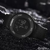 簡約潮流手錶男士游泳防水夜光多功能運動男孩女初高中學生電子錶  新年禮物
