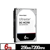 WD Ultrastar DC HC310 6TB 3.5吋 SATA 企業級硬碟(非彩盒) HUS726T6TALE6L4