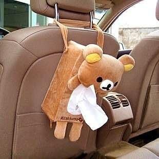 【發現。好貨】日單拉拉熊 懶懶熊車用面紙套 抽紙盒套 掛式面紙套