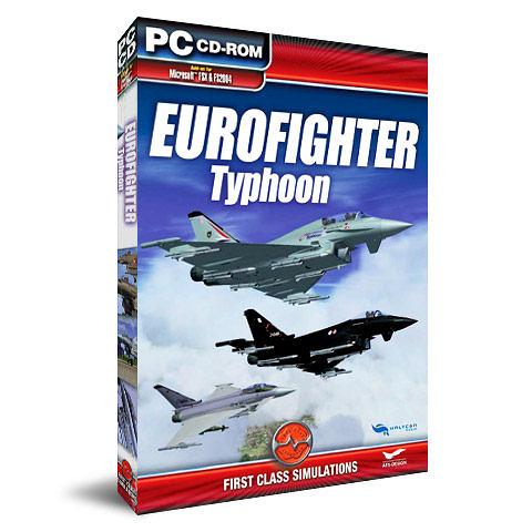 【軟體採Go網】PCGAME-模擬飛行X / 模擬飛行2004-颱風戰鬥機 Eurofighter Typhoon 盒裝完整版