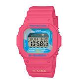 CASIO手錶專賣店 卡西歐 G-SHOCK  GLX-5600VH-4 復古衝浪電子男錶 橡膠錶帶 桃紅 潮汐圖 防水200米