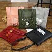 2018韓版新款簡約百搭單肩包大包學生書包托特包女手提公文包