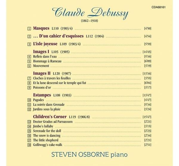 【停看聽音響唱片】【CD】德布西:兒童天地、快樂島、版畫