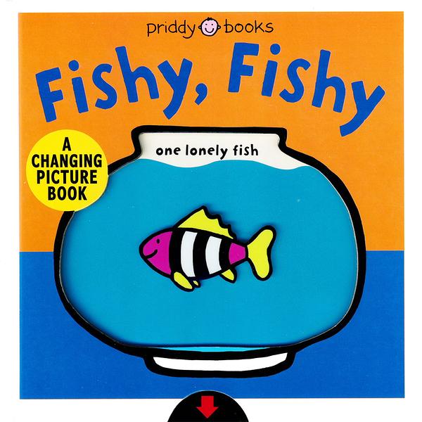 Fishy,Fishy-A Changing Picture Book 動物變色操作書(美國版)