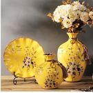 幸福居*歐式陶瓷三件套擺件 時尚創意家居...