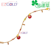 幸運草金飾-金色年華-瑙黃金手鍊