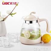 紫丁香耐熱冷水壺玻璃果汁壺大容量茶壺涼白開水壺家用涼水壺套裝 【全館免運】