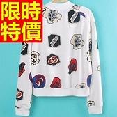 棒球外套女夾克-保暖棉質拼接俐落走秀款龐克風質感可愛1色59h181【巴黎精品】