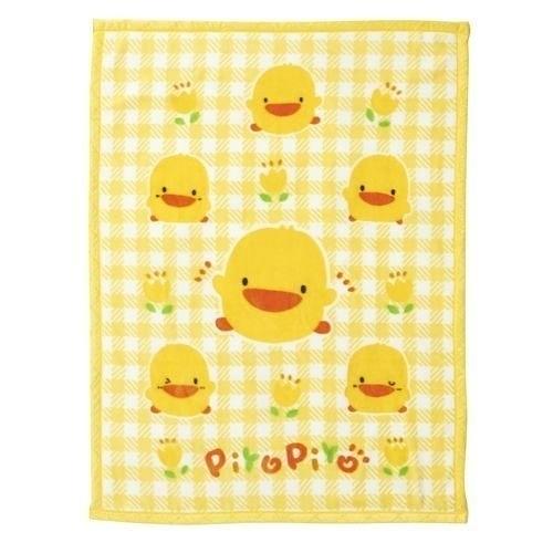 黃色小鴨千鳥格舒眠毯~附禮盒與提袋81716