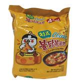 三養起士火辣雞肉乾燒拉麵140g*4入/袋【愛買】