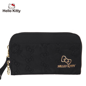 【橘子包包館】Hello Kitty 快意之旅-萬用夾-黑 KT01R08BK 拉鍊長夾 手拿包