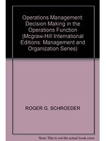 二手書 Operations Management: Decision Making in the Operations Function (Mcgraw-Hill International Ed R2Y 0071128425
