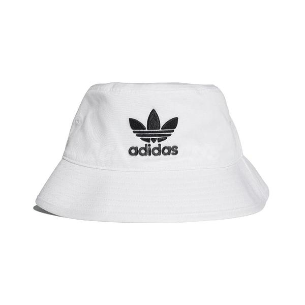 adidas 帽子 Trefoil Bucket Hat 黑 白 男女款 漁夫帽 【ACS】 BK7350