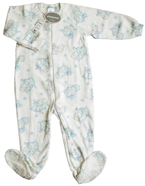 台灣製美國The Children's Place幼兒包腳連身衣/包腳兔裝/幼兒保暖安眠睡衣~3T(36M)絕版款特惠價出清