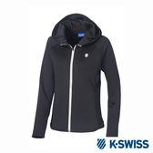 K-SWISS Jersey Jacket韓版運動外套-女-黑