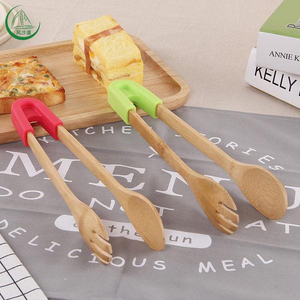 廚房夾子燒烤烤肉夾子加長竹夾子食品夾小面包夾子韓國烘焙33 寶貝計畫