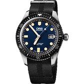 ORIS 豪利時 Divers Sixty-Five 1965 潛水系列機械錶-藍 0173377204055-0752126FC