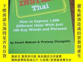 二手書博民逛書店Instant罕見Thai: How to Express 1,