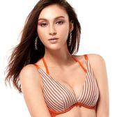 EASY SHOP-就是要善變 大罩杯B-E罩內衣(條紋橙)
