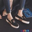 懶人鞋 2021春款小熊帆布鞋女學生韓版樂福鞋百搭懶人鞋女平底一腳蹬女鞋寶貝計畫 上新
