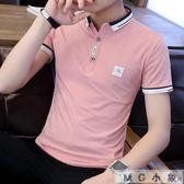 韓版襯衫領半袖POLO衫T恤