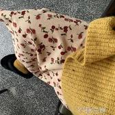 碎花裙hollyii韓風復古一步開叉燈芯絨碎花半身裙秋冬女中長款春季特賣