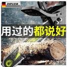 電鋸 德國芝浦鋰電電鋸充電手提式伐木鋸大功率家用電鏈鋸戶外鋸木神器 快速出貨