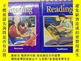 二手書博民逛書店Houghton罕見Mifflin Reading (Horizons 3.2) (Traditions 4)(英