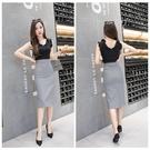 窄裙 2020春夏季新款黑白格子包臀長款半身裙女士大碼