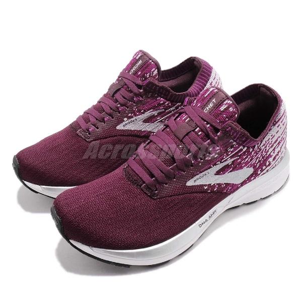 Brooks 慢跑鞋 Ricochet 紅 灰 輕量回彈 動能加碼 女鞋 運動鞋【ACS】 1202821B658