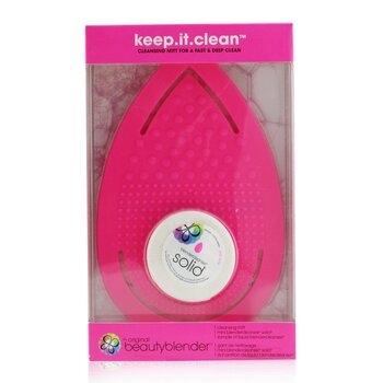 SW-BeautyBlender -16 Keep It Clean美妝蛋清潔套裝 1x 手套, 1x 迷你清潔皂