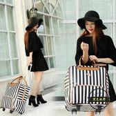 拉桿包 拉桿包旅行包女大容量手提短途旅游出差行李袋 zone  ~黑色地帶