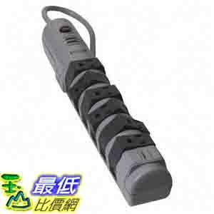 [美國直購 ShopUSA] Belkin 8 Outlet Pivot Surge Protector with 6ft Cord and Telephone Protection