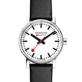 MONDAINE 瑞士國鐵evo2腕錶-35mm/白 35110LB