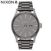 NIXON手錶 原廠總代理 A356-2090 THE Sentry SS 銀灰色 潮流時尚鋼錶帶 男女 運動 生日情人節禮物