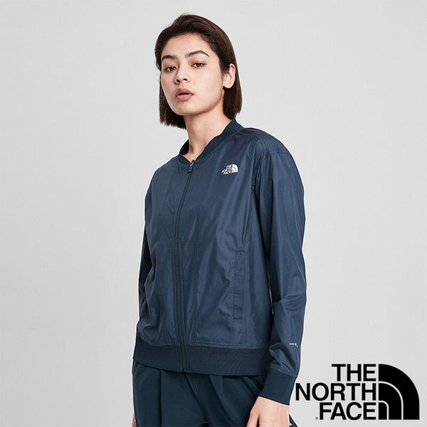 【THE NORTH FACE 美國】女 立領外套『海軍藍』NF0A4NGQ 戶外 登山 時尚 休閒 保暖 防風