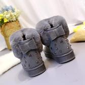 雪靴2018秋冬季新款加絨加厚雪地靴女厚底短筒短靴韓版蝴蝶結學生靴潮