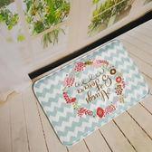法蘭絨創意田園美式吸水防滑墊植物衛浴客廳進門廚房地毯地墊