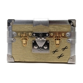 LOUIS VUITTON 路易威登 金色水波紋EPI盒子包/斜背包 Petite Malle M54653 BRAND OFF