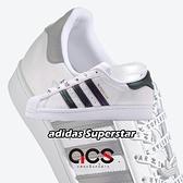 【五折特賣】adidas 休閒鞋 Superstar W 白 綠 女鞋 小白鞋 貝殼頭 金標 運動鞋【ACS】 FV3396