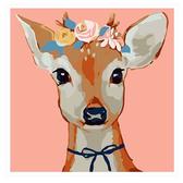 【33049】繽紛鹿_DIY 數字 油畫 彩繪