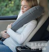 長途旅行飛機U型充氣枕側睡便攜tz4875【歐爸生活館】