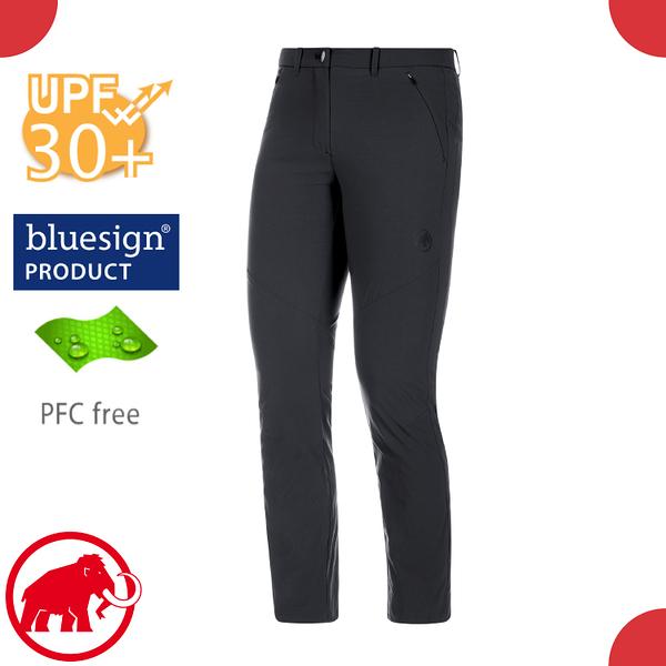 【MAMMUT 長毛象 女 Hiking pants 長褲《黑》】1022-00430/休閒運動褲/彈性透氣/防曬/輕量機能