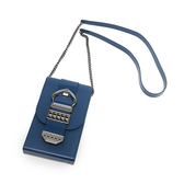 Petite Jolie  復古金屬扣飾果凍相機包-蔚藍色
