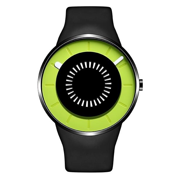 【odm】BOUNCING律動系列節奏閃燈設計腕錶-蘋果綠/DD162-05/台灣總代理公司貨享兩年保固