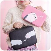 黑五好物節   化妝包小號便攜簡約可愛少女心大容量多功能收納盒品箱手提小方包   mandyc衣間