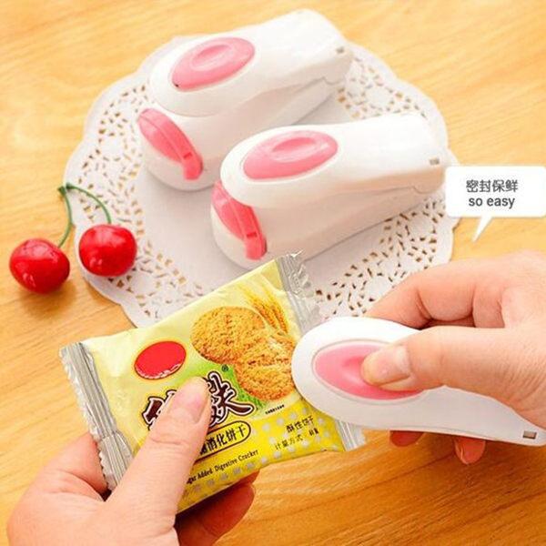 【TT485】家用便攜旅行迷妳食品保鮮封口機手壓式零食塑膠袋小型熱封密封機