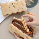 夾心餅干毛絨鉛筆袋 ins大容量日系韓國網紅可愛小學生文具盒少女 小時光生活館
