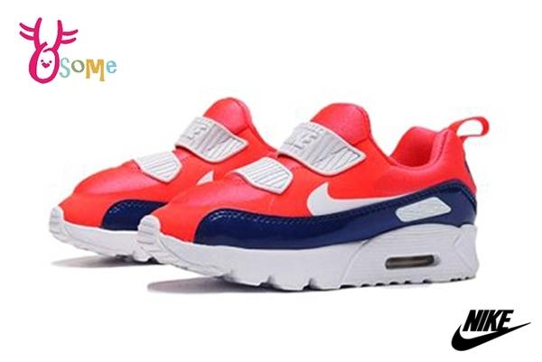【2款】NIKE童鞋 寶寶運動鞋 男女童跑步鞋 AIR MAX 免綁帶休閒運動鞋 零碼出清 P7010#橘藍◆奧森鞋業